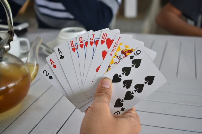 playing cards on a cruise