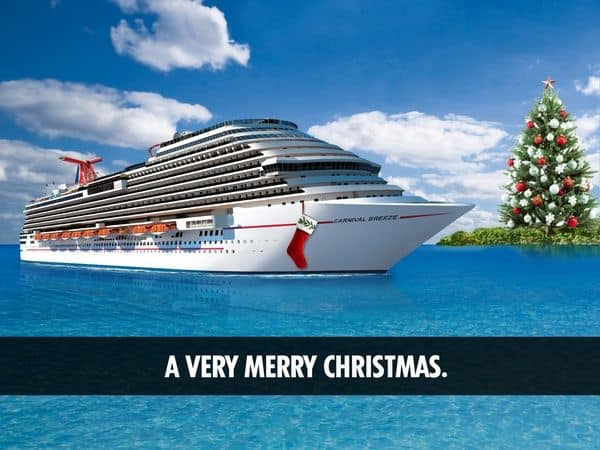 Christmas Carnival Cruise.Carnival Cruise Ships Deck Their Halls For The Holiday Season