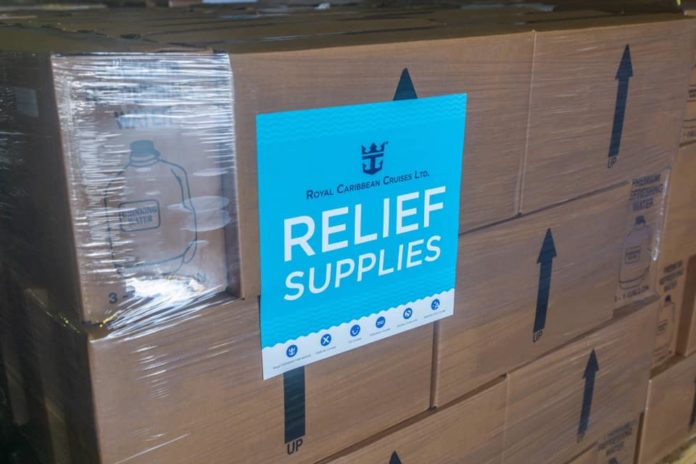 empress of the seas relief supplies