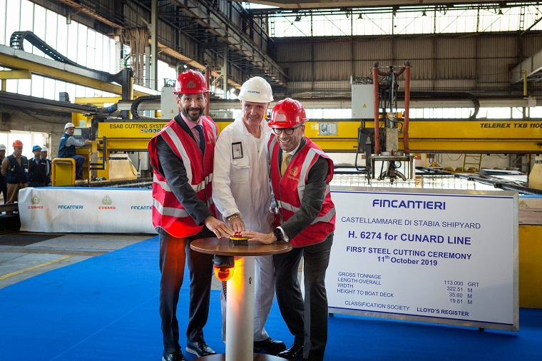 Steel Cutting Ceremony announcement