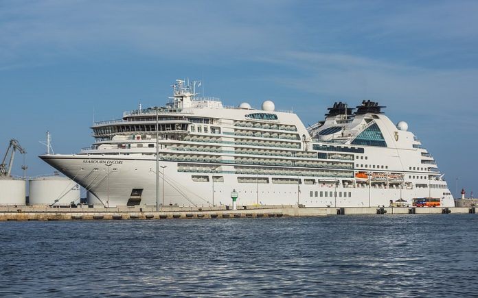 Seabourn ship in port